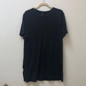 Forever 21 Black Long Shirt